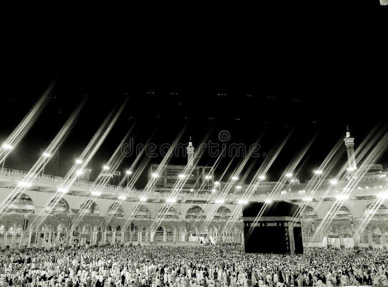 Μέκκα, Makkah Σαουδική Αραβία Masjid Al-Haram μέσω του ξενοδοχείου παραθύρων στοκ φωτογραφία με δικαίωμα ελεύθερης χρήσης