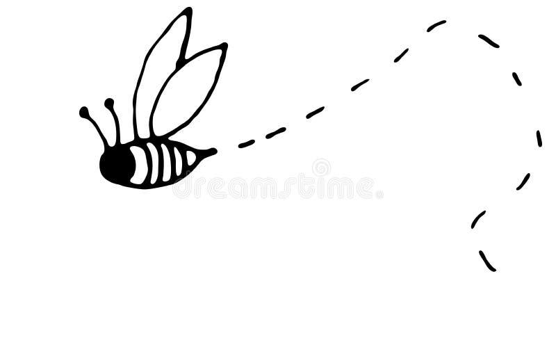 μέλισσα απασχολημένη διανυσματική απεικόνιση