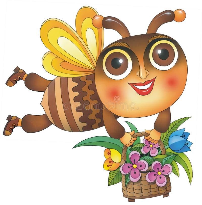 μέλισσα καλαθιών στοκ εικόνες