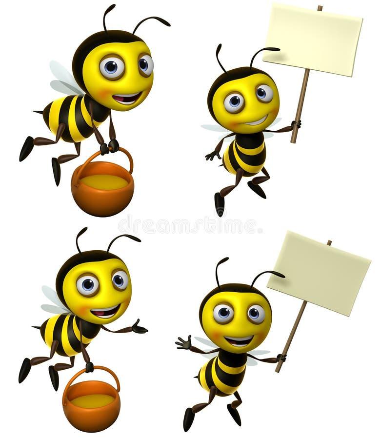 Μέλισσα κινούμενων σχεδίων διανυσματική απεικόνιση