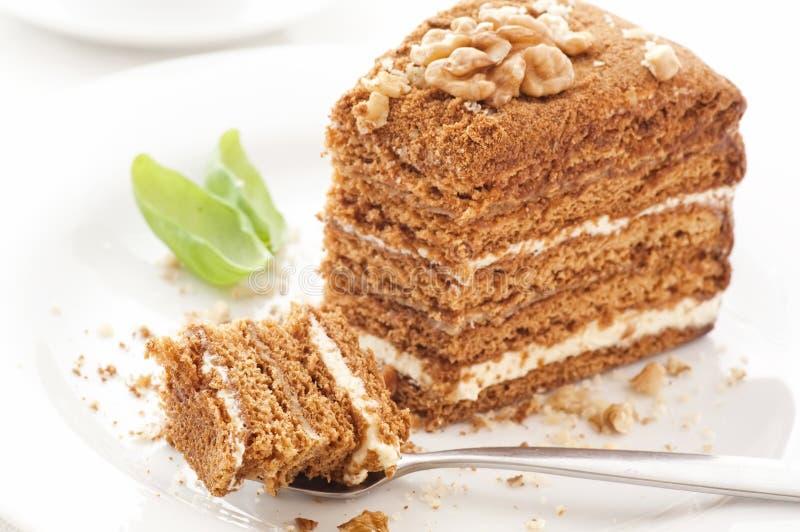 μέλι κέικ στοκ εικόνες
