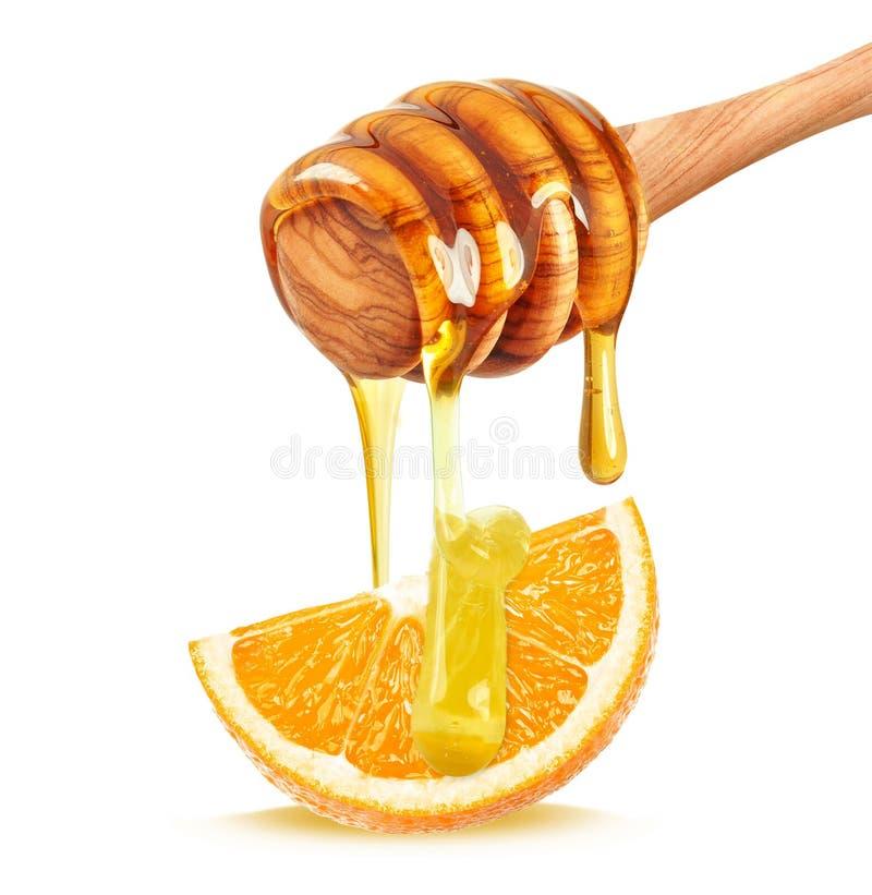 Μέλι και πορτοκάλι στοκ εικόνες