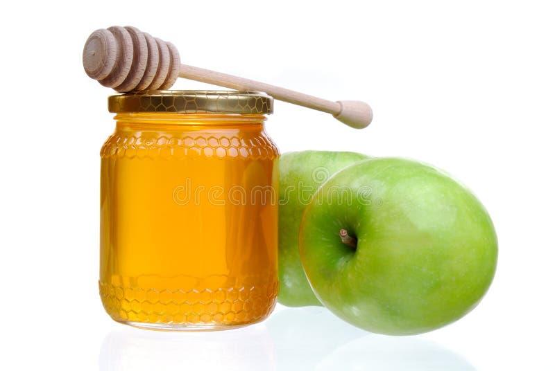μέλι μήλων στοκ φωτογραφία