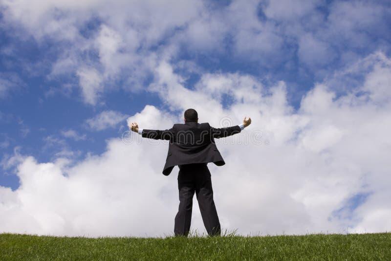 μέλλον επιχειρηματιών πο&upsi στοκ εικόνες με δικαίωμα ελεύθερης χρήσης