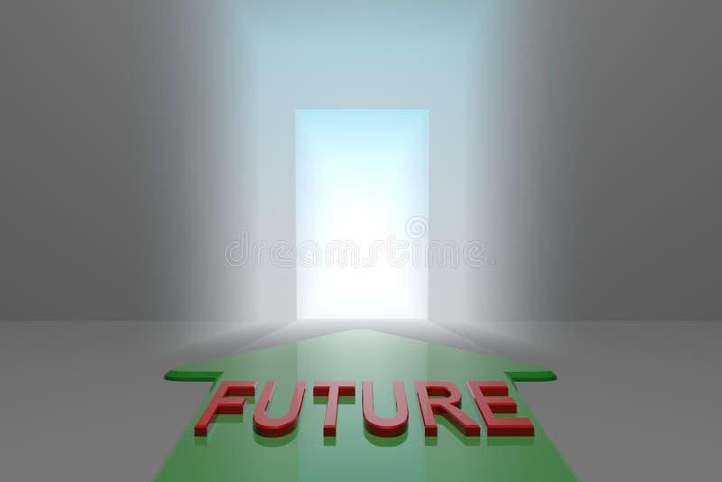 Μέλλον στην ανοικτή πύλη ελεύθερη απεικόνιση δικαιώματος