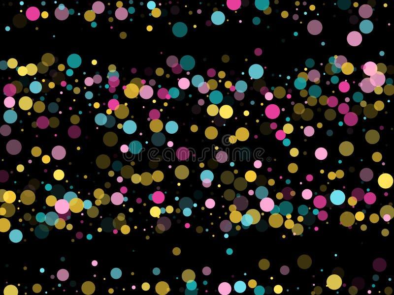 Μέμφιδα γύρω από το εορταστικό υπόβαθρο κομφετί κυανός μπλε, ρόδινος και κίτρινος Παιδαριώδες διάνυσμα σχεδίων ελεύθερη απεικόνιση δικαιώματος
