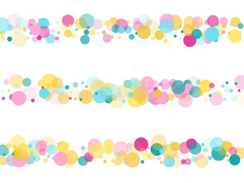 Μέμφιδα γύρω από το εορταστικό υπόβαθρο κομφετί κυανός μπλε, ρόδινος και κίτρινος Παιδαριώδες διάνυσμα σχεδίων διανυσματική απεικόνιση