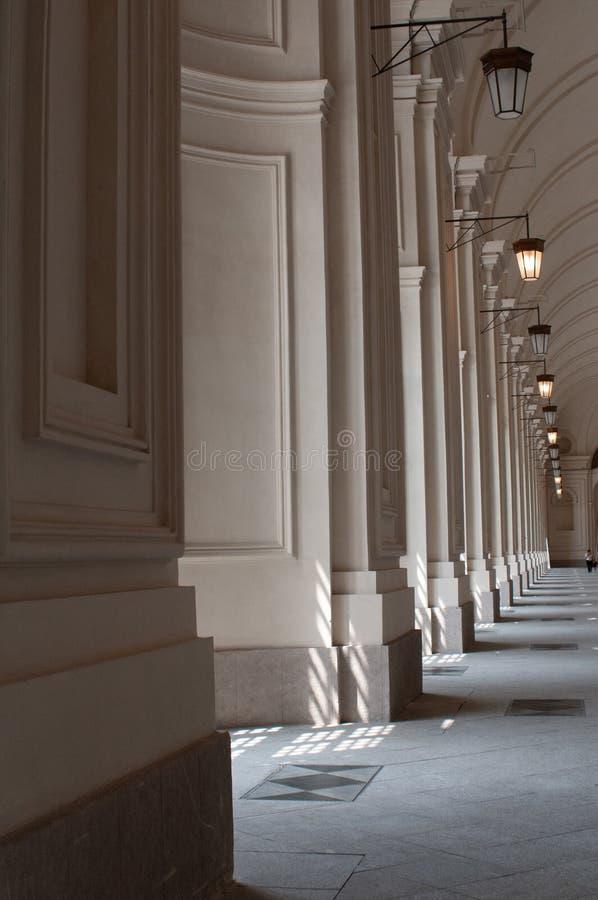Μέρη με τις στήλες στο Τορίνο, Ιταλία στοκ φωτογραφία