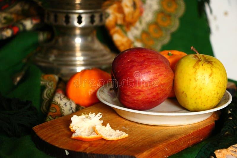 μέρη μιας ακόμα-ζωής με τα μήλα στοκ εικόνες