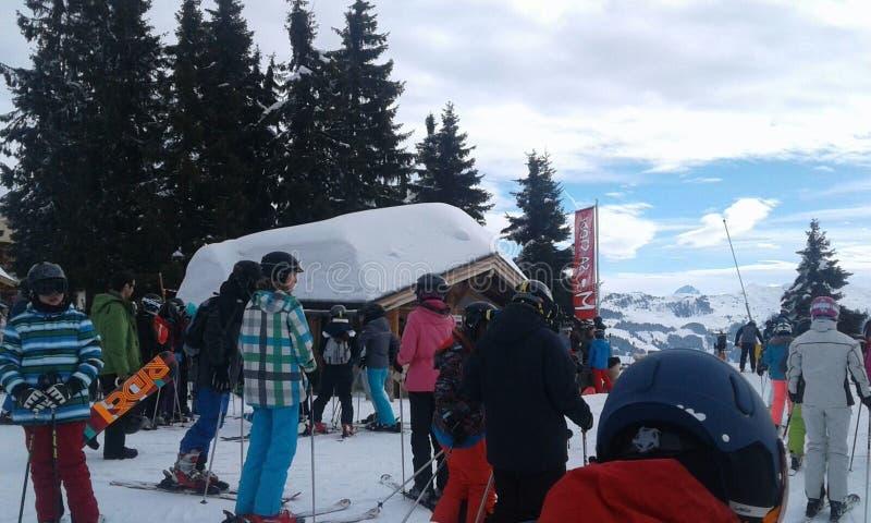 Μέρη της Αυστρίας του χιονιού σε μια στέγη στοκ εικόνα