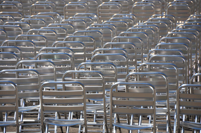 Μέρη των κενών εδρών - κανένα ακροατήριο στοκ φωτογραφία