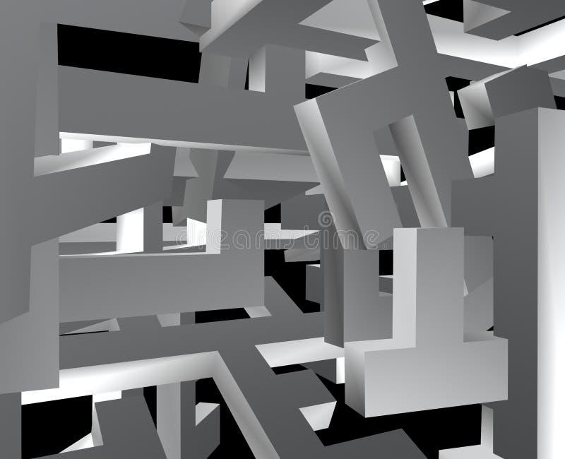 Μέρη των μικτών φραγμών διανυσματική απεικόνιση