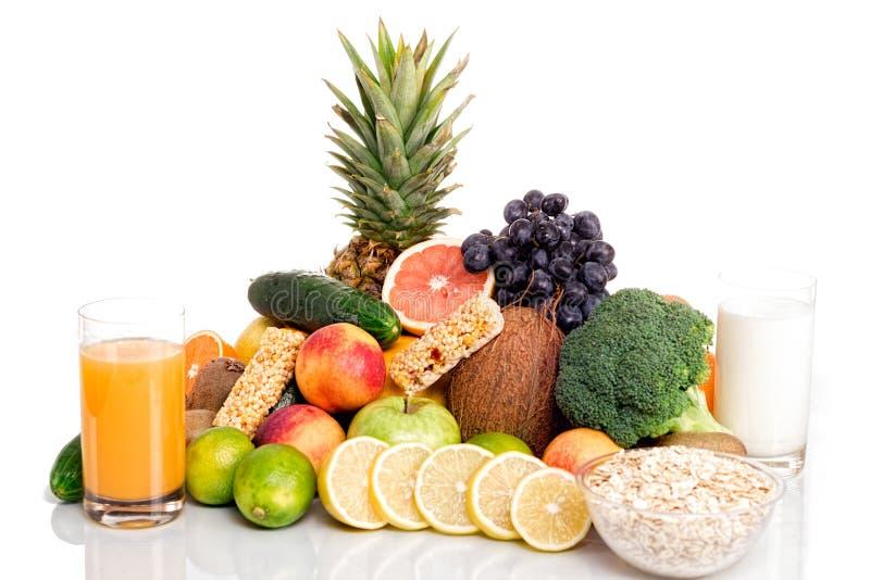 Μέρη των φρέσκων φρούτων και λαχανικών στοκ εικόνες με δικαίωμα ελεύθερης χρήσης