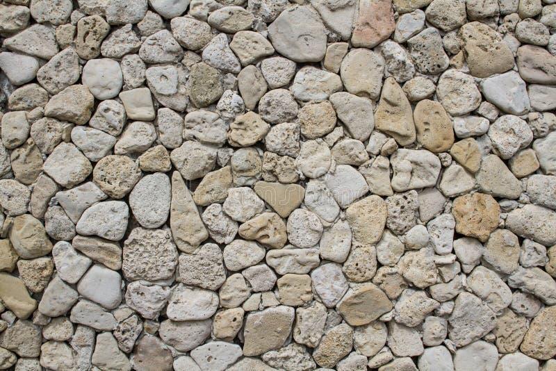 Μέρος ενός τοίχου πετρών, για το υπόβαθρο ή τη σύσταση στοκ εικόνες