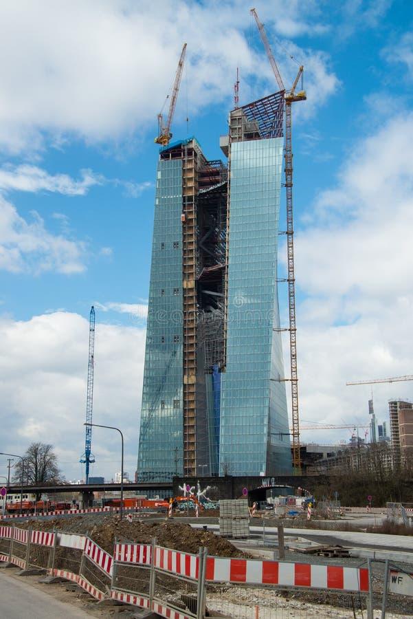 Μέρος κτηρίου του ε. - Ευρωπαϊκή Κεντρική Τράπεζα στοκ φωτογραφία με δικαίωμα ελεύθερης χρήσης