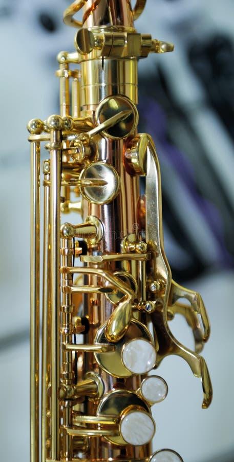 Μέρος στενού ενός επάνω saxophone στοκ εικόνες