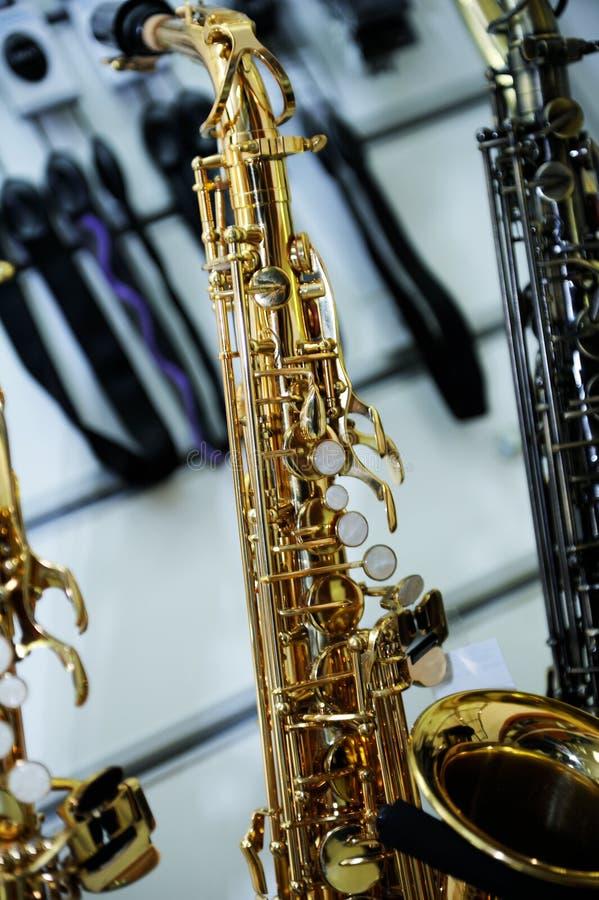 Μέρος στενού ενός επάνω saxophone στοκ εικόνες με δικαίωμα ελεύθερης χρήσης