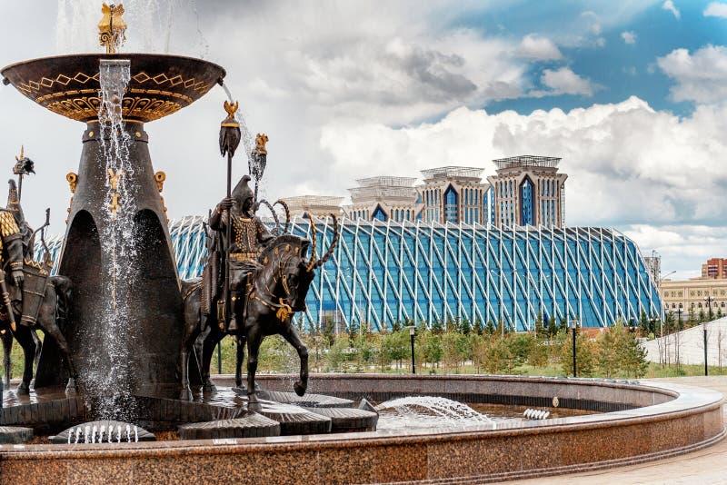 Μέρος της εικονικής παράστασης πόλης νέου Astana στοκ φωτογραφία με δικαίωμα ελεύθερης χρήσης
