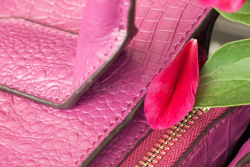 Μέρος της τσάντας γυναικών δέρματος στοκ εικόνα με δικαίωμα ελεύθερης χρήσης