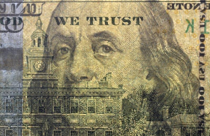 Μέρος του αμερικανικού τραπεζογραμματίου στοκ φωτογραφίες με δικαίωμα ελεύθερης χρήσης