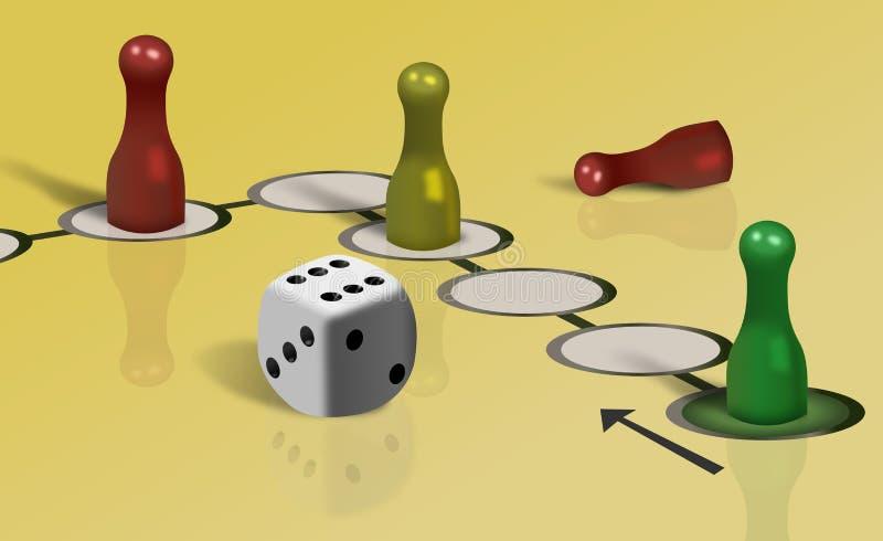 Μέρος του επιτραπέζιου παιχνιδιού του Ludo και χωρίζει σε τετράγωνα απεικόνιση αποθεμάτων