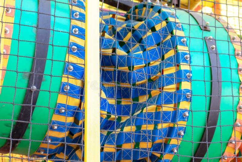 Μέρος του ζωηρόχρωμου κέντρου ψυχαγωγίας για τα παιδιά, παιδική χαρά του παιδιού στοκ εικόνες