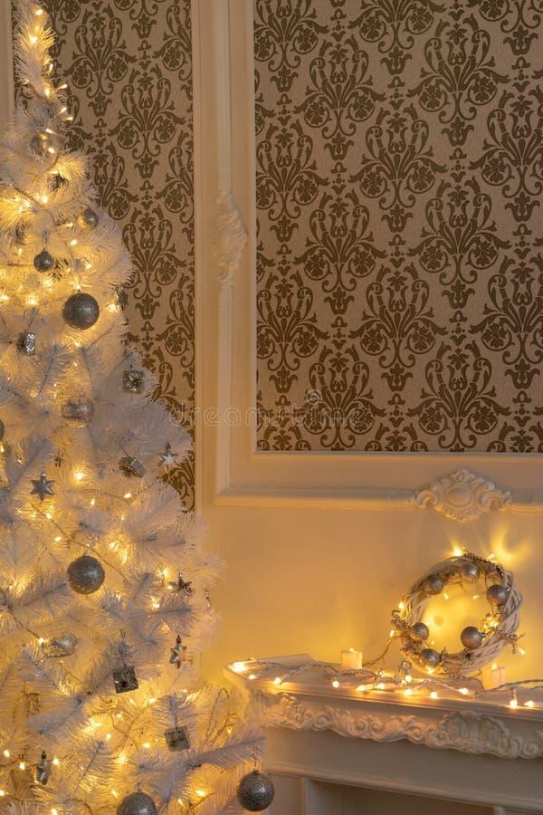 Μέρος του μπαρόκ δωματίου Χριστούγεννο-ύφους στοκ φωτογραφία
