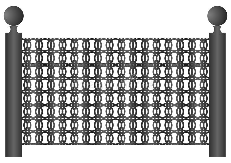 3.A κομμάτι του φράκτη. απεικόνιση αποθεμάτων