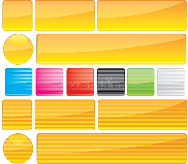μέρος 12 κουμπιών διανυσματική απεικόνιση