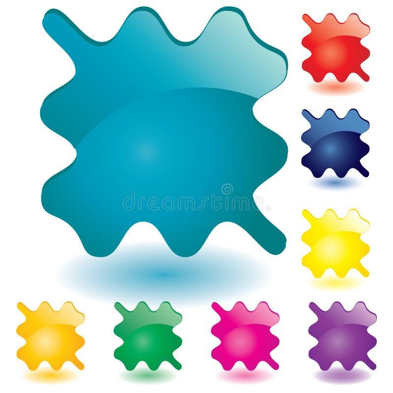 μέρος 6 κουμπιών απεικόνιση αποθεμάτων