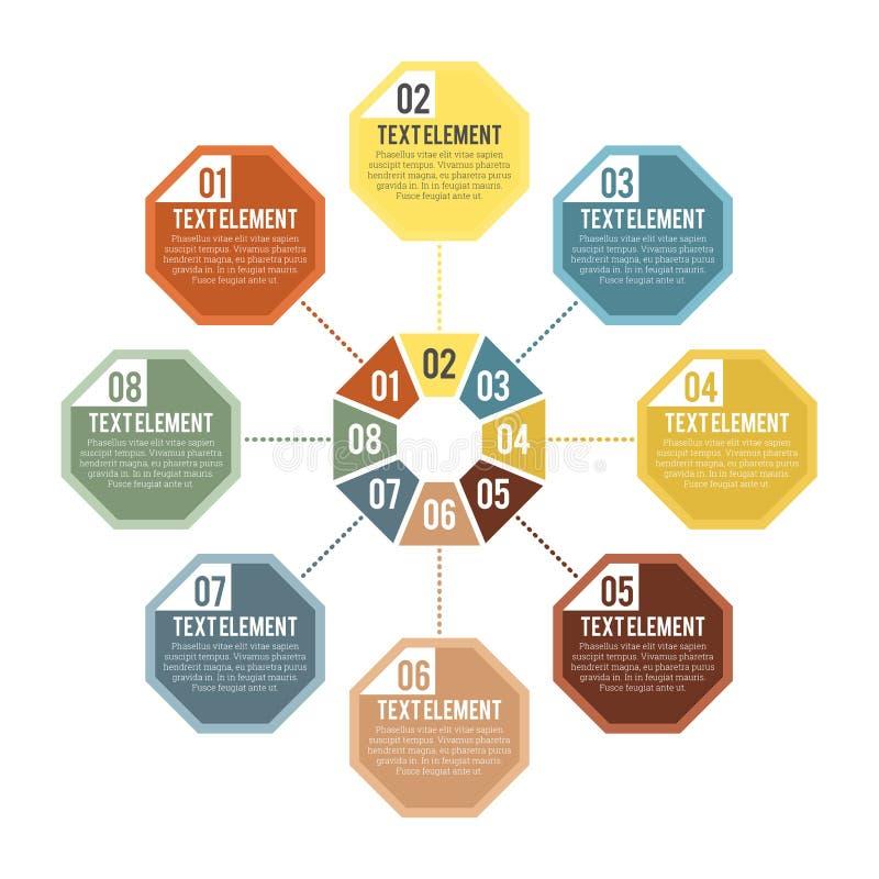 Μέρος Infographic οκταγώνων διανυσματική απεικόνιση