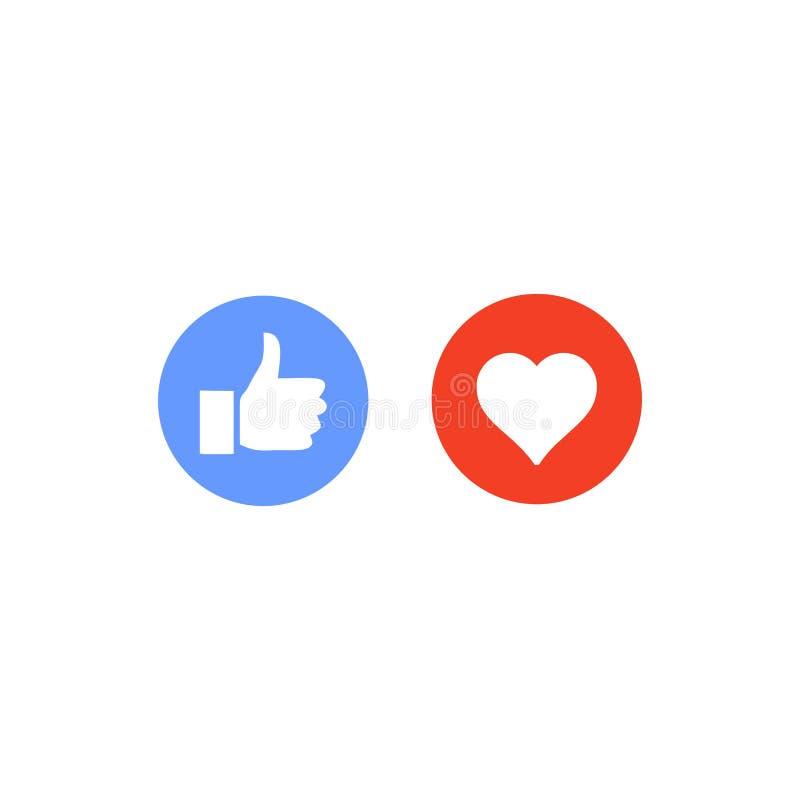 μέσα κοινωνικά όπως, αγάπη, την ακολουθία, διάνυσμα σχεδίου, πρότυπο ελεύθερη απεικόνιση δικαιώματος