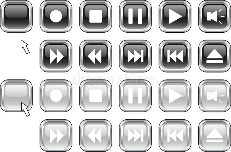 μέσα κουμπιών διανυσματική απεικόνιση