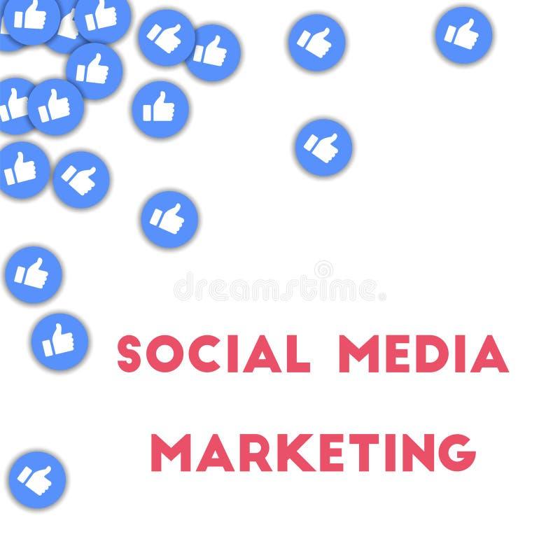 μέσα μάρκετινγκ κοινωνικά απεικόνιση αποθεμάτων