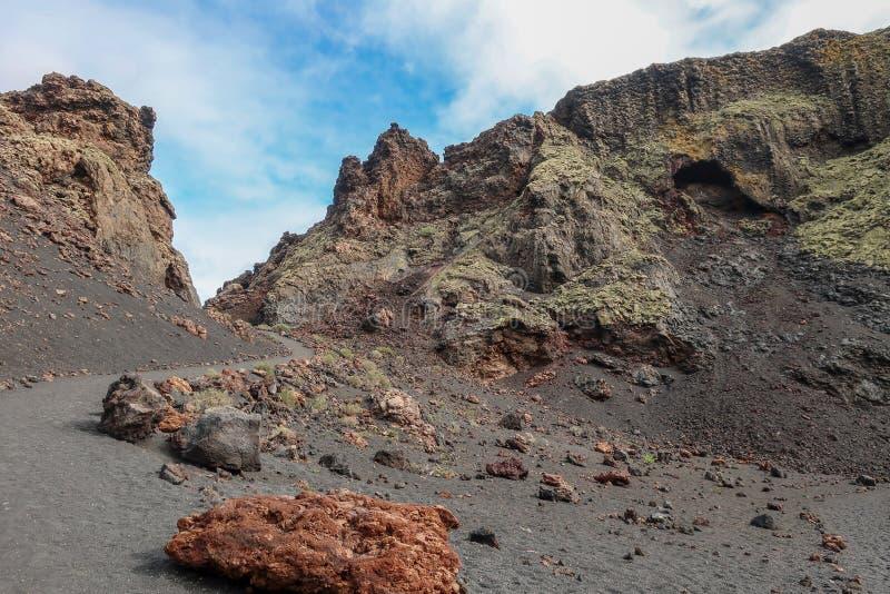 Μέσα σε έναν caldera ηφαιστείων κρατήρα στοκ εικόνα