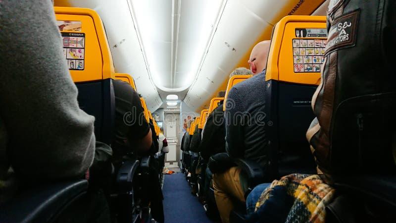 Μέσα Σε Ένα Εμπορικό Jet Liner Boing 737 στοκ φωτογραφίες με δικαίωμα ελεύθερης χρήσης