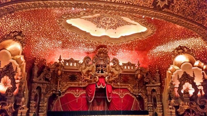 Μέσα σε ένα θέατρο στοκ φωτογραφίες με δικαίωμα ελεύθερης χρήσης