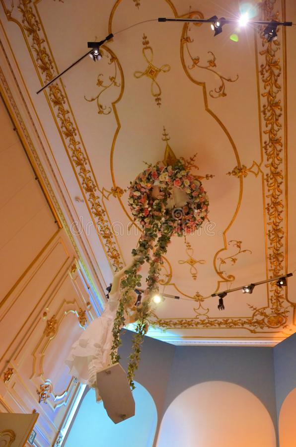 Μέσα στο αυτοκρατορικό παλάτι στη Βιέννη στοκ εικόνες