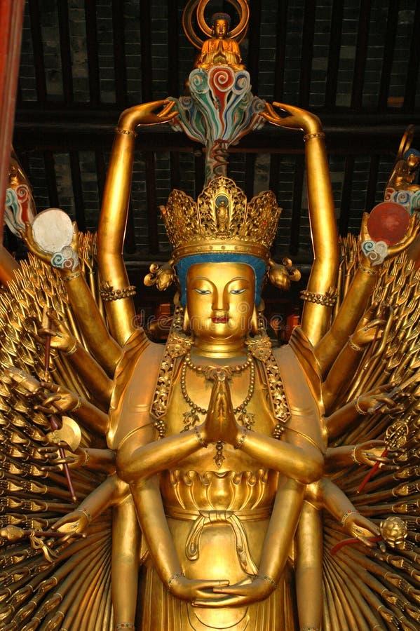 μέσα στο ναό της Σαγγάης στοκ εικόνα με δικαίωμα ελεύθερης χρήσης