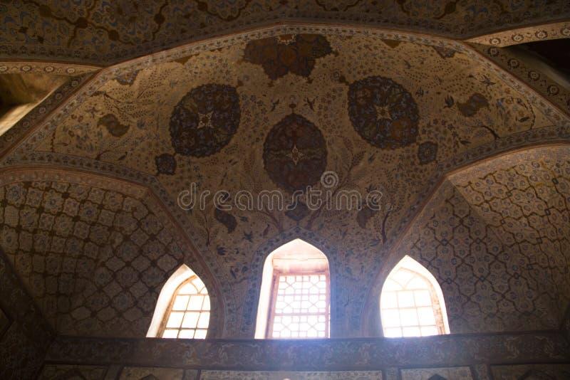 Μέσα στο παλάτι του Ali Qapu στο Ισφαχάν, Ιράν στοκ εικόνα με δικαίωμα ελεύθερης χρήσης