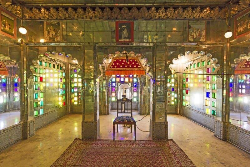 Μέσα στο παλάτι πόλεων σε Udaipur στοκ εικόνες