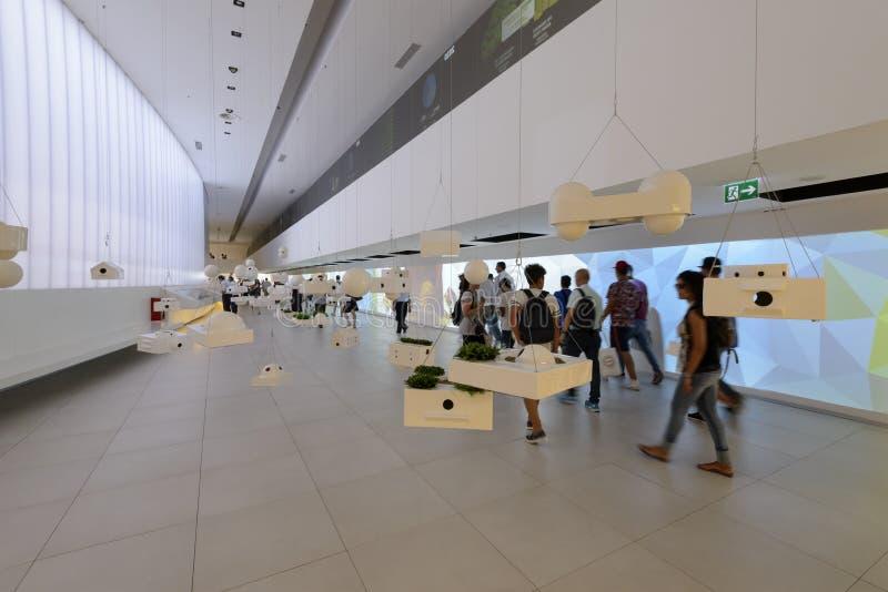 Μέσα στο περίπτερο της Βραζιλίας, EXPO 2015 Μιλάνο στοκ φωτογραφία