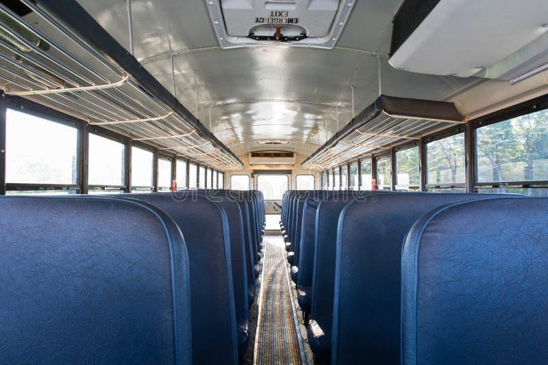 Μέσα στο σχολικό λεωφορείο στοκ εικόνες