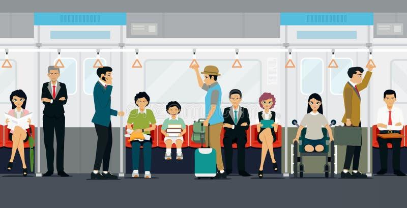 Μέσα στο υπόγειο τρένο ελεύθερη απεικόνιση δικαιώματος