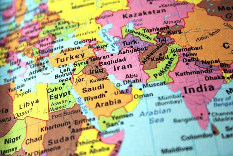 μέση ανατολικών χαρτών στοκ φωτογραφία με δικαίωμα ελεύθερης χρήσης