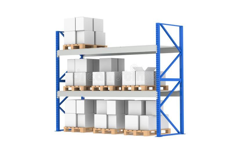 μέση αποθήκη εμπορευμάτων διανυσματική απεικόνιση