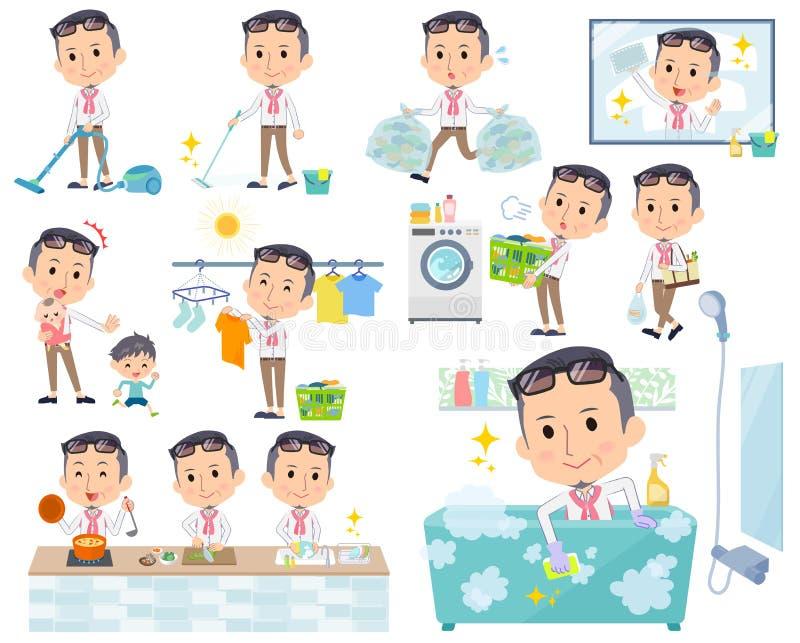 Μέση παραγωγών men_housekeeper απεικόνιση αποθεμάτων