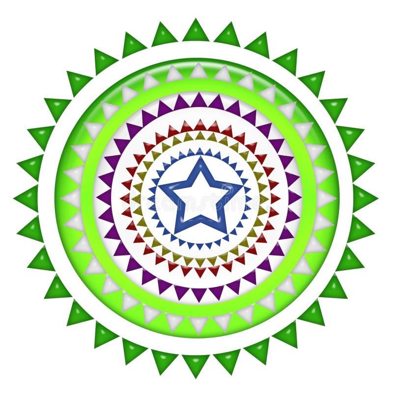 Μέσο μπλε σχέδιο αστεριών διανυσματική απεικόνιση