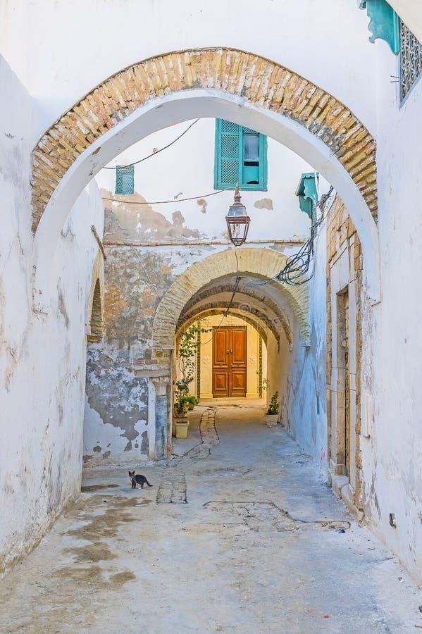 Μέσω των αψίδων της Τυνησίας Medina στοκ φωτογραφία με δικαίωμα ελεύθερης χρήσης