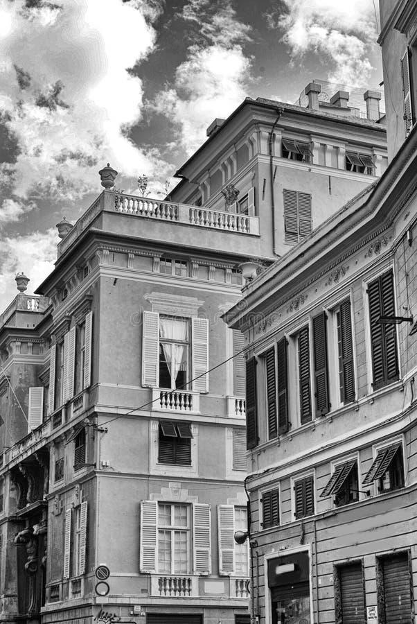 Μέσω Garibaldi, Γένοβα, Ιταλία στοκ εικόνες